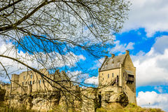 Larochette,卢森堡城堡  免版税库存照片