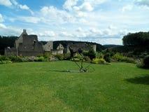 Larochette slotts trädgård, Luxembourg stad, Luxembourg Royaltyfri Bild