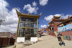 Larong Wuming s buddhist college in Seda. Larong Wuming's buddhist college located in the Ganzi Tibetan Autonomous Prefecture in Seda county in Sichuan Province Stock Photography