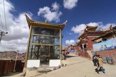 Larong Wuming s buddistisk högskola i Seda Arkivbild