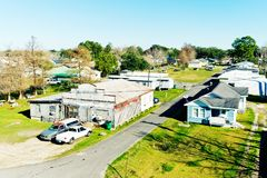 Larose, Louisiana. Is a small community located in coastal Lafourche Parish. The population is about 6,000 with a local Cajun culture that is unique in royalty free stock image