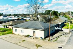 Larose, Louisiana. Is a small community located in coastal Lafourche Parish. The population is about 6,000 with a local Cajun culture that is unique in royalty free stock photography
