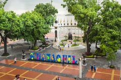 LaRotonda monument i Guayaquil Arkivbild
