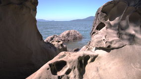 Larrabee State Park, Rock Formations, Washington  4K, UHD stock footage