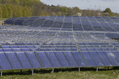 LARRGEST SOLAR ENGERY PARK Royalty Free Stock Images