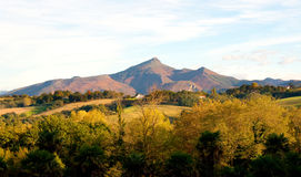 Larrun山,比利牛斯。 免版税库存图片