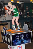 Larry Bird wooden carved statue Stock Photo