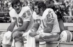Larry Csonka et Jim Kiick, Miami Dolphins image libre de droits