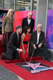 Larry David, Laura Dern, Leron Gubler, Mary Steenburgen, Ted Danson royaltyfri bild