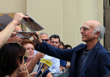 Larry David Signs Playbills Stock Photos