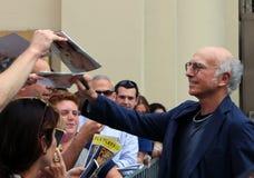 Larry David Signs Playbills Stock Photos