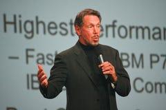 Larry Ellison maakt toespraak bij Orakel OpenWorld Stock Fotografie