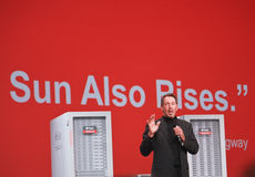 Larry Ellison makes keynote at Oracle OpenWorld Royalty Free Stock Photo