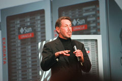 Larry Ellison makes speech at Oracle OpenWorld Stock Photography