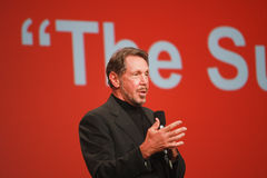 Larry Ellison makes speech at Oracle OpenWorld Royalty Free Stock Images