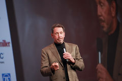 Larry Ellison makes speech at Oracle OpenWorld Royalty Free Stock Photos