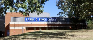 Larry O. Finch Center Memphis University. Larry Finch was a player and coach for the University of Memphis men`s basketball team.He is perhaps most famous for Stock Images