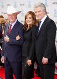 Larry Hagman, Linda γκρίζα και Πάτρικ Duffy Στοκ φωτογραφία με δικαίωμα ελεύθερης χρήσης