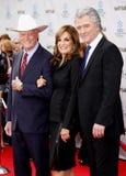 Larry Hagman, Linda γκρίζα και Πάτρικ Duffy Στοκ εικόνα με δικαίωμα ελεύθερης χρήσης