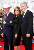 Larry Hagman, Linda γκρίζα και Πάτρικ Duffy Στοκ Εικόνα