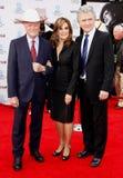 Larry Hagman, Linda Gray and Patrick Duffy Stock Photos