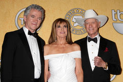 Larry Hagman, Patrick Duffy, Linda Grey Stock Photography