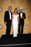 Larry Hagman, Patrick Duffy, Linda Grey Stock Photos