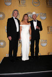 Larry Hagman, Patrick Duffy, Linda Grey Stock Images