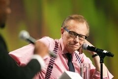 Larry King Arkivfoto