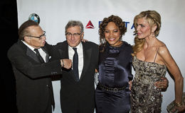 Larry King, Robert DeNiro, Grace Hightower, and Shawn King Stock Image