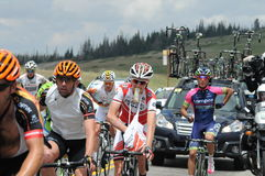 Larry miller 2014 tour of utah  eating and racing Royalty Free Stock Image