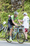Lars在彻尔du Tourmalet -环法自行车赛兴旺2014年 免版税库存照片