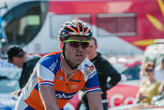 Lars Boom. Dutch cyclist Lars Boom of the Rabobank cycling team. Boom is one of he big Dutch promises in cycling. Here after the finish of the race Gent-Wevelgem Royalty Free Stock Photo