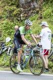 Lars Boom en Col du Tourmalet - Tour de France 2014 Fotos de archivo libres de regalías