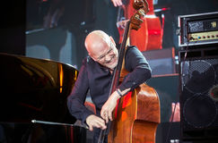 Lars Danielsson stellen Programm Liberetto 2 im Quartettformat dar Lizenzfreie Stockbilder