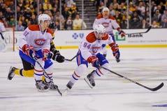 Lars Eller Pyatt i Tom, Montreal Canadiens Fotografia Stock