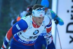 Lars Helge Birkeland - biathlon Stock Afbeeldingen