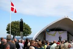 Lars Løkke Rasmussen an der Hauptphase, Folkemøde 2015 lizenzfreies stockbild