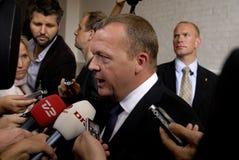 lars lokke ο υπουργός πρωταρχικό&sig Στοκ Εικόνα