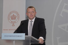 LARS LOKKE EERSTE MINISTER RASMUSSEN Stock Foto's