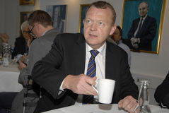 LARS LOKKE RASMUSSEN_PM AND PARTY CHAIRMAN Royalty Free Stock Images