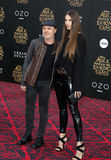 Lars Ulrich and Jessica Miller royalty free stock photo