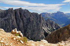 Larsec peaks and Sella group Stock Photo