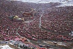 Larung Gar Buddhist Academy, Sichuan, Chine Photo libre de droits
