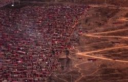 Larung Gar Sertar Sichuan China 2015 Royaltyfria Bilder