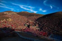 Larung Gar Sertar Sichuan China 2015. Larung Gar(Larung Five Sciences Buddhist Academy). a famous Lamasery in Seda, Sichuan, China Stock Images