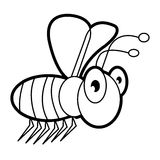 Larva worm and apple cartoon coloring page for toddle. Image of larva worm cartoon coloring page for toddle Stock Image