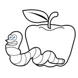 Cartoon The Image Of A Worm Stock Illustration Illustration Of