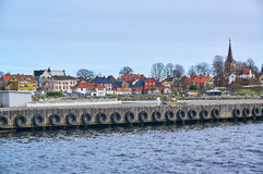 Larvik fisherman port in spring, Norway Stock Photos