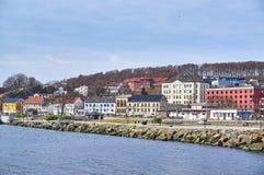 Larvik wharf in spring, Norway Stock Photos